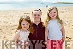 Ianagh Flannery, Ella Conroy and Gloria Keane enjoying the sunny after afternoon on Fenit Beach on Tuesday
