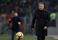 Football, Serie A: AS Roma - Bologna FC, Olympic stadium, Rome, February 18, 2019. <br /> Bologna's coach Sinisa Mihajlovic during the Italian Serie A football match between AS Roma and Bologna FC at Olympic stadium in Rome, on February 18, 2019.<br /> UPDATE IMAGES PRESS/Isabella Bonotto