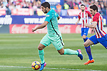 Luis Suarez of Futbol Club Barcelona during the match of Spanish La Liga between Atletico de Madrid and Futbol Club Barcelona at Vicente Calderon Stadium in Madrid, Spain. February 26, 2017. (ALTERPHOTOS)