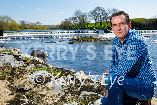 Cllr: Jimmy Moloney standing near the Scartlea Pumping station in Listowel wheres there is a concern about the water due to local oil pollution on Thursday.