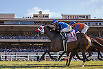DEL MAR,CA-SEPTEMBER 04: Free Rose #11,ridden by Norberto Arroyo,Jr, wins the Del Mar Derby at Del Mar Race Track on September 04,2016 in Del Mar,California (Photo by Kaz Ishida/Eclipse Sportswire/Getty Images)