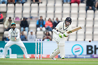 Tom Latham, New Zealand pushes into the on side during India vs New Zealand, ICC World Test Championship Final Cricket at The Hampshire Bowl on 20th June 2021