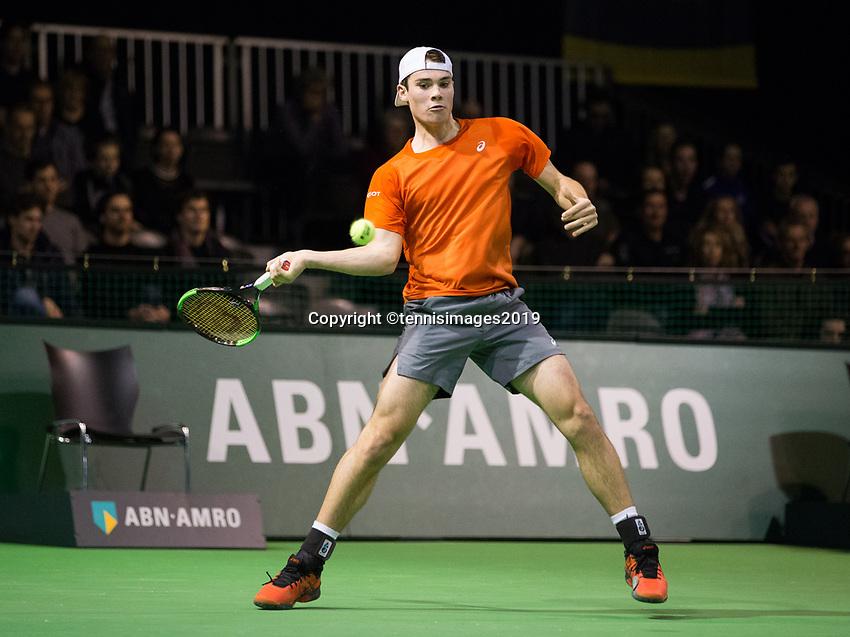 Rotterdam, Netherlands, 9 februari, 2019, Ahoy, Tennis, ABNAMROWTT, RYAN NIJBOER (NED)  Photo: Henk Koster/tennisimages.com