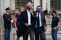Silvia Salis and Giovanni Malago' during the visit of the Italian National team at Palazzo Chigi, where the athletes met the Italian Premier after winning the UEFA Euro 2020 cup.<br /> Rome (Italy), July 12th 2021<br /> Photo Samantha Zucchi Insidefoto