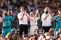 WOLFF Toto (aut), Team Principal & CEO Mercedes AMG F1 GP, portrait and Susie Wolff during the Formula 1 Pirelli British Grand Prix 2021, 10th round of the 2021 FIA Formula One World Championship from July 16 to 18, 2021 on the Silverstone Circuit, in Silverstone, United Kingdom - Photo DPPI<br /> Formula 1 GP Great Britain Silverstone 18/07/2021<br /> Photo DPPI/Panoramic/Insidefoto <br /> ITALY ONLY