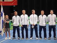 10-02-12, Netherlands,Tennis, Den Bosch, Daviscup Netherlands-Finland, Presentatie, Team Finland