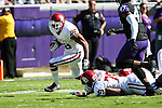Oklahoma Sooners running back Alex Ross (28) in action during the game between the Oklahoma Sooners and the TCU Horned Frogs at the Amon G. Carter Stadium in Fort Worth, Texas. TCU defeats OU 37 to 33.