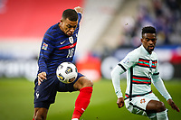 Kylian Mbappe ( France ) - N Semedo ( 2 - Portugal ) -  ( 10 - France ) - PARIS 11/10/2020 Saint Denis <br /> Nations League France Vs. Portugal <br /> Photo Federico Pestellini / Panoramic / Insidefoto  <br /> ITALY ONLY