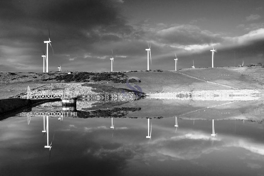 Busbie Muir Windfarm and Dam, Ardrossan, Ayrshire