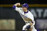 Western Carolina Catamounts starting pitcher Gavin Mortenson (11) in action against the St. John's Red Storm at Childress Field on March 13, 2021 in Cullowhee, North Carolina. (Brian Westerholt/Four Seam Images)
