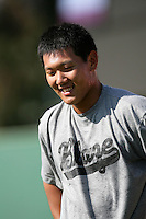 May 26, 2010: Yoon Hee Nam of the Bakersfield Blaze during game against the Inland Empire 66'ers at Arrowhead Credit Union Park in San Bernardino,CA.  Photo by Larry Goren/Four Seam Images