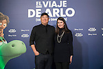 Movie director Peter Sohn and producer Denise Ream attend `El viaje de Arlo´ premiere in Madrid, Spain. November 20, 2015. (ALTERPHOTOS/Victor Blanco)