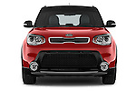 Car photography straight front view of a 2015 KIA Soul Max 5 Door Hatchback
