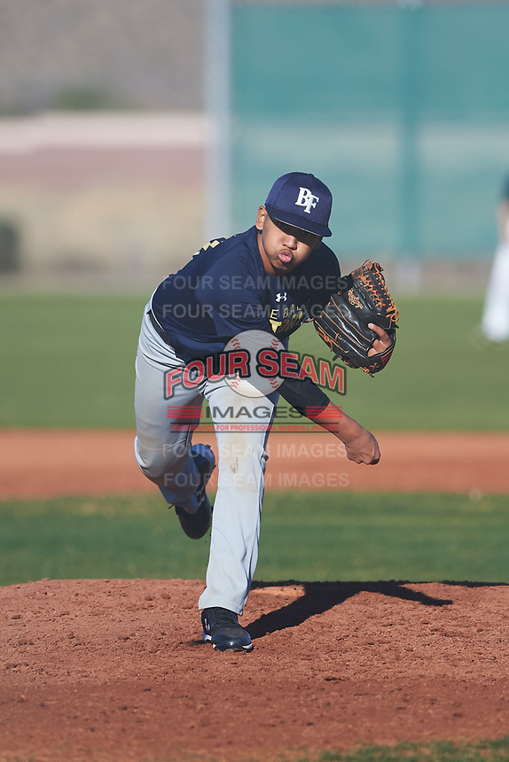 Kristian Cardejon (51), from Kekaha, Hawaii, while playing for the Padres during the Under Armour Baseball Factory Recruiting Classic at Red Mountain Baseball Complex on December 28, 2017 in Mesa, Arizona. (Zachary Lucy/Four Seam Images)