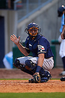 San Antonio Missions catcher Griff Erickson (11) during a game against the NW Arkansas Naturals on May 30, 2015 at Arvest Ballpark in Springdale, Arkansas.  San Antonio defeated NW Arkansas 5-2.  (Mike Janes/Four Seam Images)