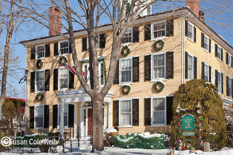 Christmas decorations at the Captain Lord Mansion in Kennebunk, ME, USA