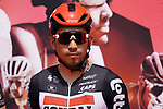Caleb Ewan (AUS) Lotto-Soudal at sign on before the start of Stage 6 of the 2021 UAE Tour running 165km from Deira Island to Palm Jumeirah, Dubai, UAE. 26th February 2021.  <br /> Picture: Eoin Clarke   Cyclefile<br /> <br /> All photos usage must carry mandatory copyright credit (© Cyclefile   Eoin Clarke)