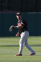 Michael Conforto #8 of the Oregon State Beavers during a game against the Southern California Trojans at Dedeaux Field on May 23, 2014 in Los Angeles, California. Southern California defeated Oregon State, 4-2. (Larry Goren/Four Seam Images)