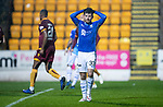 St Johnstone v Motherwell…15.12.18…   McDiarmid Park    SPFL<br />Matty Kennedy reacts after mssing his penalty kick<br />Picture by Graeme Hart. <br />Copyright Perthshire Picture Agency<br />Tel: 01738 623350  Mobile: 07990 594431
