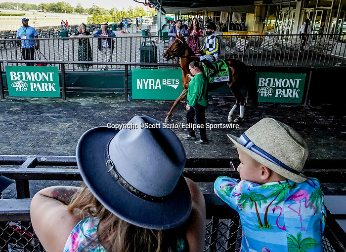 June 5, 2021: Scenes from Belmont Stakes Day at Belmont Park in Elmont, New York. Scott Serio/Eclipse Sportswire/CSM