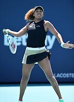 MIAMI GARDENS, FL - MARCH 26: Naomi Osaka Vs Ajla Tomljanovic at the 2021Miami Open at Hard Rock Stadium on March 26, 2021 in Miami Gardens, Florida. <br /> CAP/MPI04<br /> ©MPI04/Capital Pictures