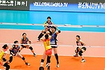 #16 Xia Ding of China (L) fights for the ball with #21 Ai Kurogo of Japan (R) during the match between China and Japan on May 30, 2018 in Hong Kong, Hong Kong. (Photo by Power Sport Images/Getty Images)