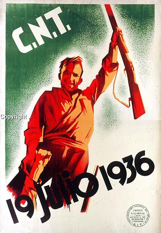 19 Julio 1936 - July 19, 1986 poster