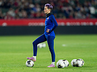 CARSON, CA - FEBRUARY 7: Megan Rapinoe #15 of the United States warms up during a game between Mexico and USWNT at Dignity Health Sports Park on February 7, 2020 in Carson, California.