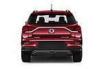 Straight rear view of 2020 Ssangyong Korando Onyx 5 Door SUV Rear View  stock images
