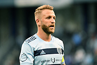KANSAS CITY, KS - MAY 9: Johnny Russell #7 Sporting KC during a game between Austin FC and Sporting Kansas City at Children's Mercy Park on May 9, 2021 in Kansas City, Kansas.