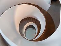 Wendeltreppe, Hotel Riva, Seestr. 25, Konstanz, Baden-Württemberg, Deutschland, Europa<br /> spiral staircase, Hotel Riva, Seestr. 25, Constance, Baden-Württemberg, Germany, Europe