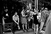 """Krasnodar, Russia  .1998.On the """"Day of Independence"""" young people gather to dance in the streets.."""