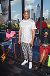 """Kareem """"Biggs"""" Burke attends the Romeo Hunte Spring Summer 2019 collection runway show in PH-D at Dream Downtown New York City on July 11, 2018; during New York Fashion Week: Men's Spring Summer 2019."""