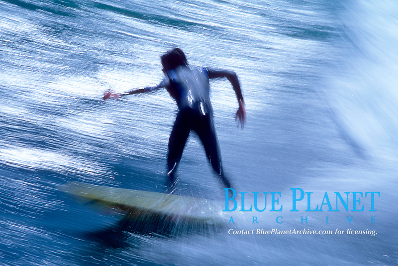 surfer performing a bottom turn, Scott's Creek, just south of Davenport, California, East Pacific Ocean
