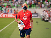 AUSTIN, TX - JUNE 16: Philip Poole of the USWNT walks onto the field before a game between Nigeria and USWNT at Q2 Stadium on June 16, 2021 in Austin, Texas.