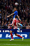 Alvaro Morata of Atletico de Madrid and Inigo Martinez of Athletic Club de Bilbao during the La Liga match between Atletico de Madrid and Athletic Club de Bilbao at Wanda Metropolitano Stadium in Madrid, Spain. October 26, 2019. (ALTERPHOTOS/A. Perez Meca)