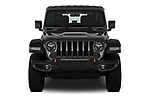 Car photography straight front view of a 2020 JEEP Wrangler Rubicon 5 Door SUV Front View