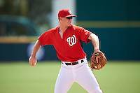 Washington Nationals third baseman Ian Sagdal (13) during an Instructional League game against the Atlanta Braves on September 30, 2016 at Space Coast Stadium in Melbourne, Florida.  (Mike Janes/Four Seam Images)