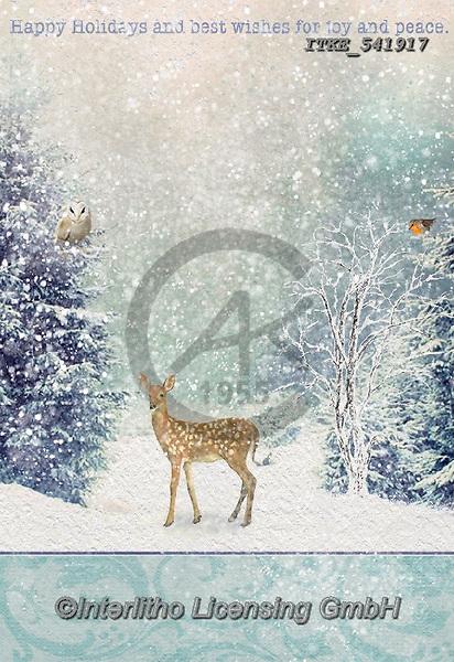 Isabella, CHRISTMAS LANDSCAPES, WEIHNACHTEN WINTERLANDSCHAFTEN, NAVIDAD PAISAJES DE INVIERNO, paintings+++++,ITKE541917,#xl# ,deer