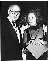 Le Maire Jean Drapeau et son epouse, le  8 novembre 1978<br /> durant la campagne pour sa ré-élection, <br /> <br /> PHOTO : JJ Raudsepp  - Agence Quebec presse