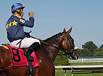 July 29, 2012 Brushed By a Star, Corey Nakatani up, wins the Molly Pitcher, a grade II stakes at Monmouth Park Racetrack, Oceanport, NJ. @Joan Fairman Kanes/Eclipse Sportswire