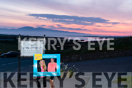 Supporting Darkness into Light for Pieta House at Rossbeigh Beach on Saturday morning<br /> L-R Jackie & Orlaith O'Sullivan