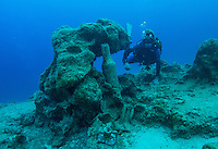 Amphora on a shipwreck off Kas, Turkey
