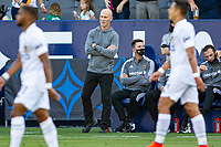 CARSON, CA - MAY 8: Bob Bradley head coach of LAFC paces the sideline during a game between Los Angeles FC and Los Angeles Galaxy at Dignity Health Sports Park on May 8, 2021 in Carson, California.