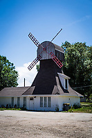 """Along US Route 40, at the edge of town in Hayden, Colorado, there is a windmill house.  From a web search:  The windmill was built in the 1970s for the Dutch Mill """"hamburger joint.""""  Since then it has been a coffee shop and now appears to be a private home."""