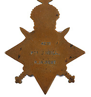 BNPS.co.uk (01202 558833)<br /> Pic: Mullen's/BNPS<br /> <br /> Pictured: The medal.<br /> <br /> A First World War medal awarded to a British Prisoner of War whose evidence helped hang traitor Sir Roger Casement has been unearthed.<br /> <br /> Private John Neill witnessed the Foreign Office diplomat-turned-Irish revolutionary try and recruit Irish PoWs to fight for Germany against Britain.<br /> <br /> In return Casement sought German help and weapons for the Easter Rising of 1916, the bloody revolt by Irish republicans against British rule in which over 200 men were killed.