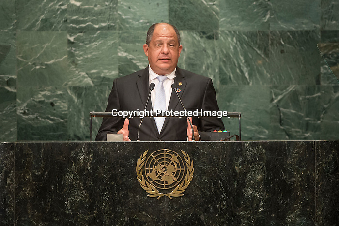 Costa Rica<br /> H.E. Mr. Luis Guillermo Solís Rivera<br /> Presiden<br /> <br /> General Assembly Seventy-first session: Opening of the General Debate 71 United Nations, New York