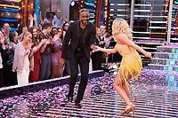 """Charles Venn and Faye Touzer<br /> at the launch of """"Strictly Come Dancing"""" 2018, BBC Broadcasting House, London<br /> <br /> ©Ash Knotek  D3426  27/08/2018"""