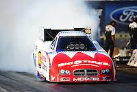 Oct. 16, 2011; Chandler, AZ, USA; NHRA funny car driver Johnny Gray during the Arizona Nationals at Firebird International Raceway. Mandatory Credit: Mark J. Rebilas-