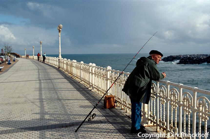 Angler in San Sebastián (Donostia) , Baskenland (Euskadi), Spanien